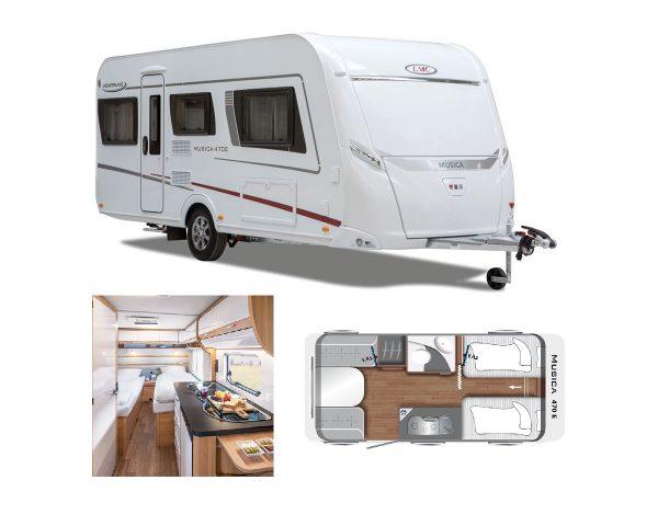 LMC Musica 470 E Meerbeek Limited Edition 2019 caravan modellen met voordeel tot € 8.231,= ! ( nu incl. volautomaat mover en Thule luifel )